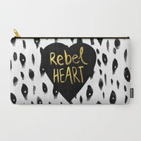 Rebel Heart Carry-All Pouch by Sandra Arduini | Society6