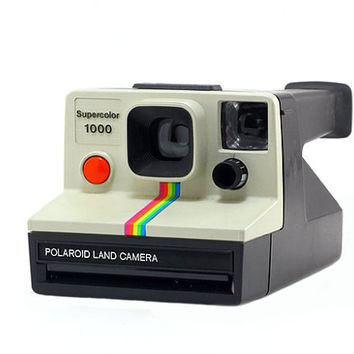 Polaroid Supercolor 1000 w/Instruction Manual and Bag: Vintage Camera, Retro, Geekery, Men - Black, Cream