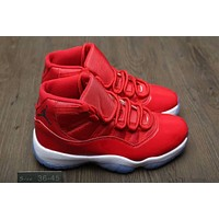 """Nike Air Jordan 11"" Unisex Sport Casual Fashion High Help Basketball Shoes Sneakers Couple War Boots"