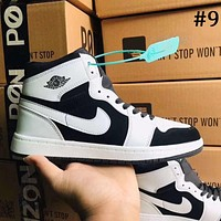 Air Jordan 1 high top men's and women's sneakers shoes