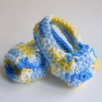 Baby Boy  Sandals Girl Summer Booties Bright Blue Yellow  White  Crochet Children Spring Clothing Infant  3 - 6 Months