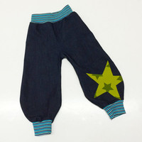 Boy Toddler pants, toddler boys jeans, Toddler Harem Pants, 12-18 months, European Handmade