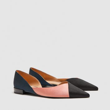 THREE-TONE FLAT SHOES DETAILS