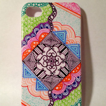 Handmade Imagination Zentangle iPhone 4/4s/5/5s Case
