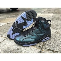 Air Jordan 6 blue Basketball Shoes 41-47