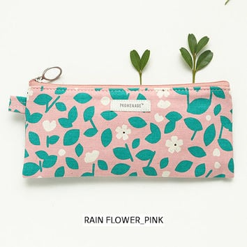 Livework Bonne promenade cotton long zipper pouch