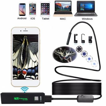 $50 or $52 1200P HD WiFi Inspection Camera Endoscope 3.5m Tube 8mm Waterproof 8 LED Lens With Wireless Transmitter For Outdoor Testing