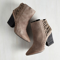 Impressively Edgy Bootie by ModCloth
