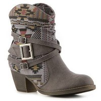 Rock & Candy Razzle Print Western Bootie