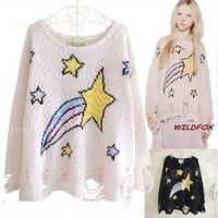 East Knitting NP 083 shooting star lenncn sweater sweaters poncho pullover knit 2014 free shipping-in Pullovers from Women's Clothing & Accessories on Aliexpress.com | Alibaba Group