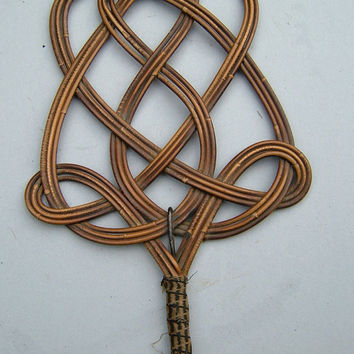 Vintage English Cane Carpet Beater - A Wall Decoration or Practical Item - 50 Shades of Grey