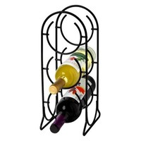 Spectrum 3-Bottle Horseshoe Wine Rack - Black