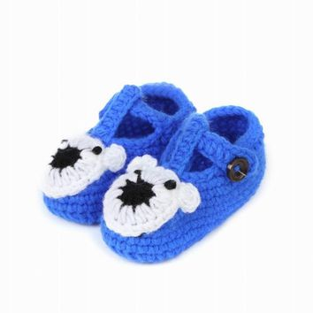 Warm Newborn Girls Boys Elastic 1-18 Months Crochet Toddler Shoes Footgear