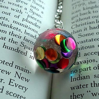 Colorful Necklace - Bohemian Jewelry - Confetti Necklace - Rainbow Jewelry - Bubble Necklace -Hippie Jewelry -Resin Jewelry -Gypsy - Kawaii