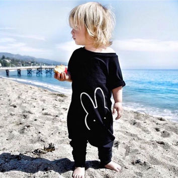 Newborn Clothes Infant Baby Boy Girl Quote Romper Toddler Jumpsuit