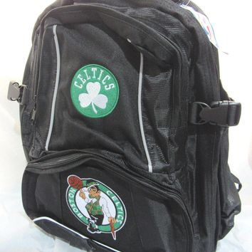 NBA NWT EMBROIDERED ADULT 3 COMPARTMENT BACKPACK - BOSTON CELTICS