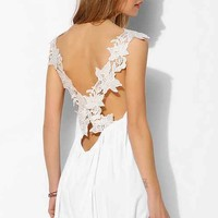 Oh My Love Crossover Lace Slip Dress-