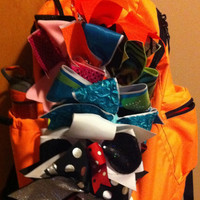 Cheer bow holder for cheerbows backpack  cheer bow holder