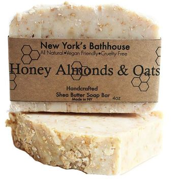 Honey Almonds & Oats Cold Process Soap Bar