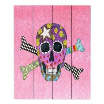 https://www.dianochedesigns.com/wood-plank-art-marley-ungaro-skull-and-cross-bones-light-pink.html
