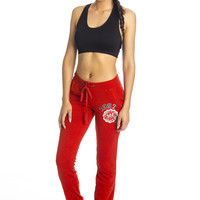 Retro Sweat Pants -Red ed