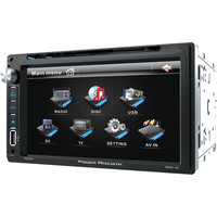 POWER ACOUSTIK PD_651 6.5 Double-DIN In-Dash LCD Touchscreen DVD Receiver (Without Bluetooth(R))
