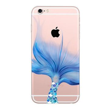 Cute Mermaid Case for iPhone 6 6s Plus & 7 7 Plus & 8 8 Plus