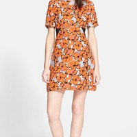 Women's A.L.C. 'Nora' Floral Print A-Line Silk Dress