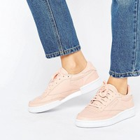 Reebok Club C Sneakers In Nude at asos.com