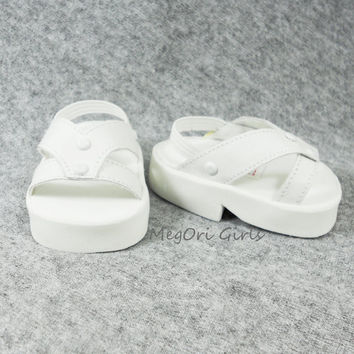 American Girl Doll Sandals White with Chunky Soles - VIVID002