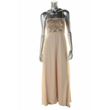 Sue Wong Womens Metallic Prom Evening Dress
