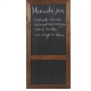 "Cafe Chalkboard, 24""W Saddle"