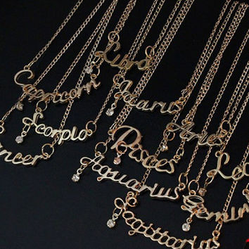 Birthday girl - Gold Plated Zodiac Necklace