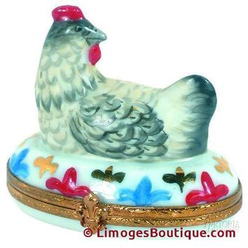 Three French Hens - 12 Days of Christmas Limoges Boxes