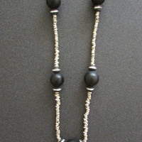 Onyx African Long Necklace, Boho Women Jewelry