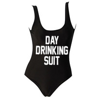 Day Drinking One Piece Swimsuit