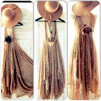 Summer halter maxi dress, Boho dresses, Sexy Bohemian gypsy sundress, Stevie Nicks Style, Music Festival Clothing, True rebel clothing SM