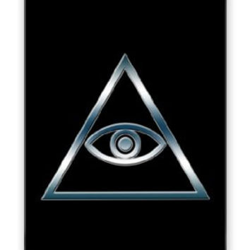 The Eye of God Egyptian Tribal Symbol iPhone 4 Quality Hard Snap On Case for iPhone 4 4S 4G - AT&T Sprint Verizon - White Case Cover