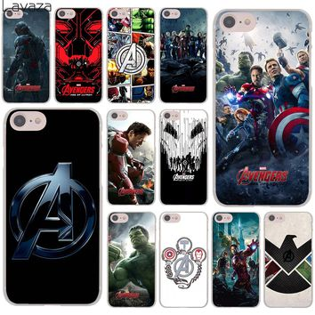 Lavaza Marvel Comics is The Avengers Hard Cover Case for Apple iPhone 8 7 6 6S Plus 5 5S SE 5C 4 4S X 10 Coque Shell