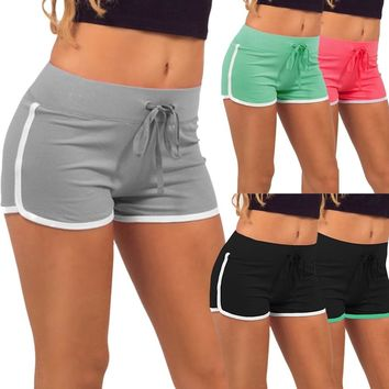 Summer Solid Cotton Sports Shorts Yoga Large Size Hot Fitness Outdoor Exercising Running Workout Gym Sport Shorts