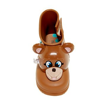 Jeremy Scott Brown Monkey Wellies Boots, Size 5 - 9