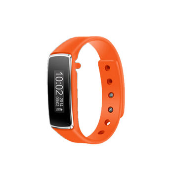 V5 Smart Bluetooth 4.0 Sport Tracker Watch Bracelet Pedometer Step Calorie Counter Orange