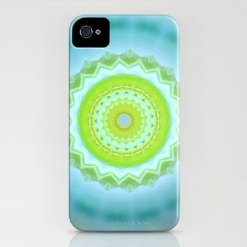 Aqua Kaleidoscope iPhone Case by M✿nika  Strigel	 | Society6