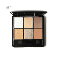 6 Warm Color Eye Shadow Palette (Nudes)