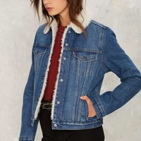 Levi's Authentic Sherpa Trucker Denim Jacket