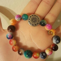 Beautiful Tye Dye Beaded Sunshine Bracelet