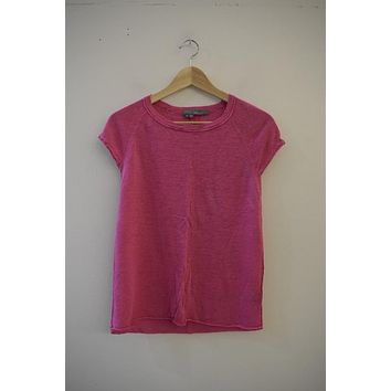 360 Sweater Pink Linen Shell Tee