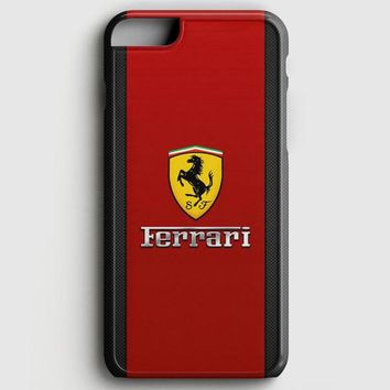 Ferrari Logo Red Black Design iPhone 6 Plus/6S Plus Case