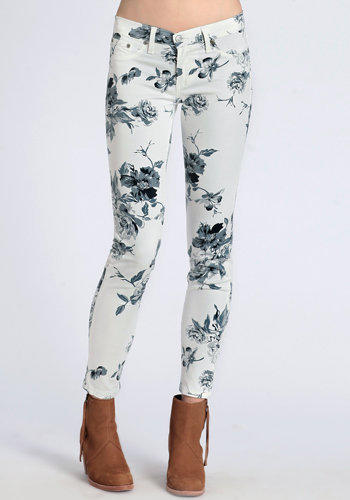 Floral Secrets Skinny Jeans - $48.00: ThreadSence, Women's Indie & Bohemian Clothing, Dresses, & Accessories