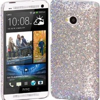 Cimo Bling Sparkle Hard Cover Back Case for HTC One (M7) - Silver
